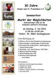 Plakat Sommerfest in jpg